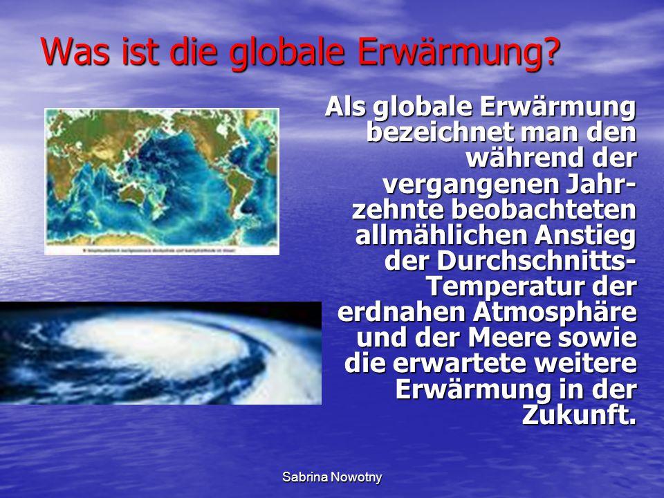 Was ist die globale Erwärmung