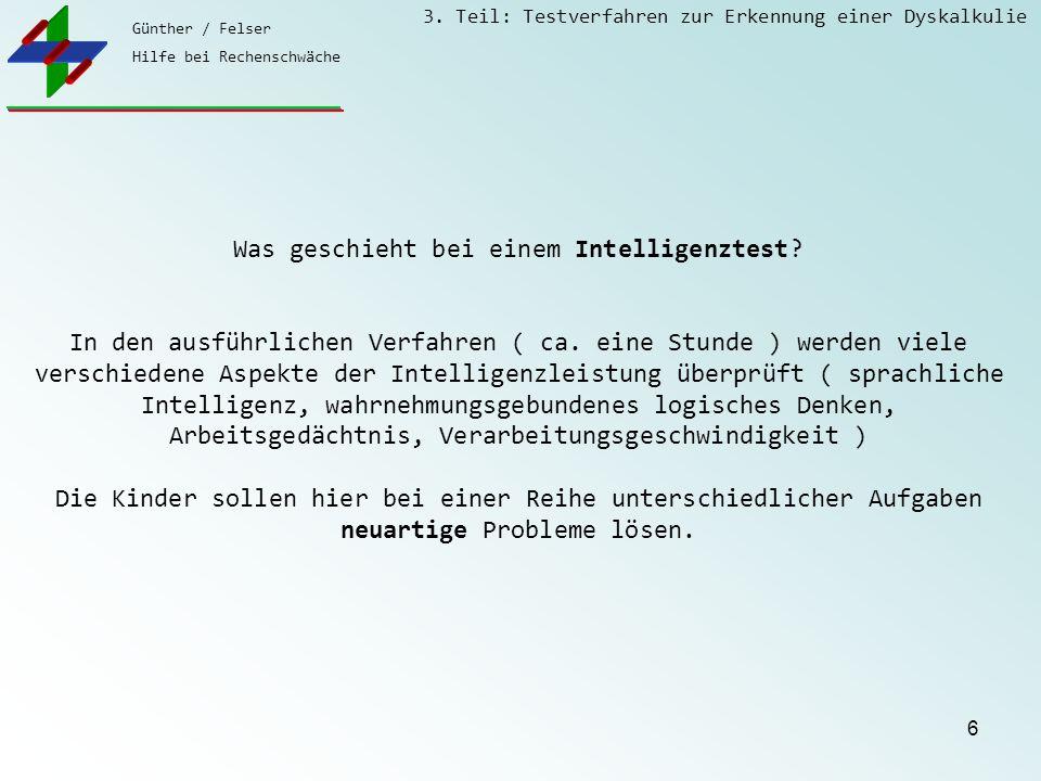 Was geschieht bei einem Intelligenztest