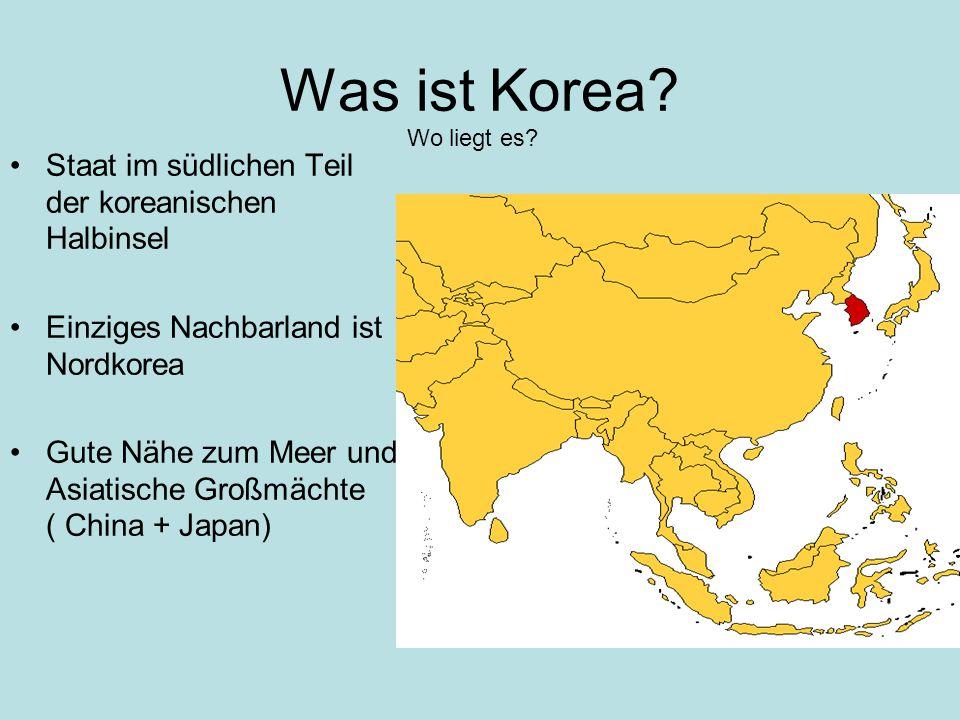 Was ist Korea Staat im südlichen Teil der koreanischen Halbinsel