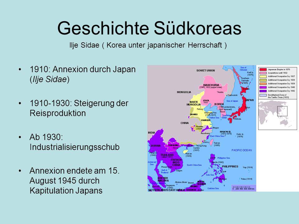 llje Sidae ( Korea unter japanischer Herrschaft )