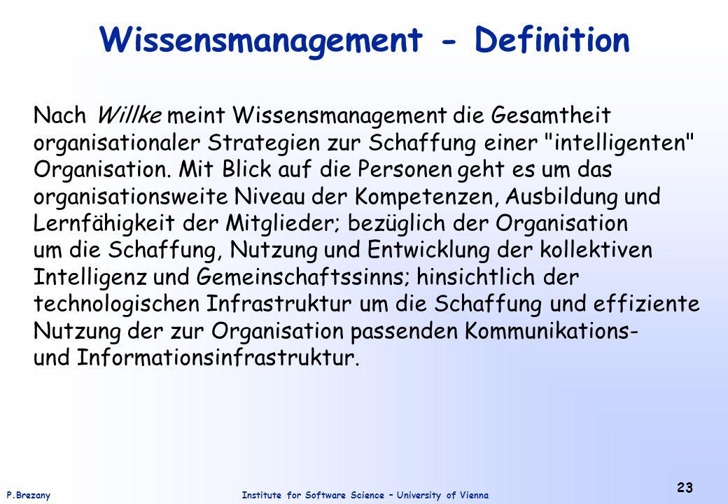 Wissensmanagement - Definition