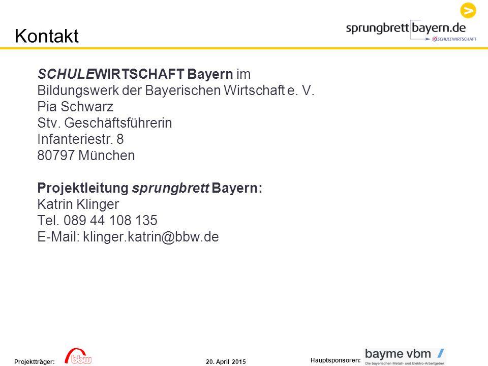 Kontakt SCHULEWIRTSCHAFT Bayern im