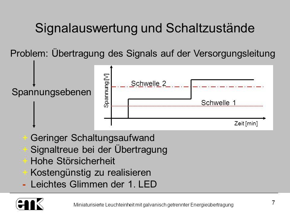 Signalauswertung und Schaltzustände