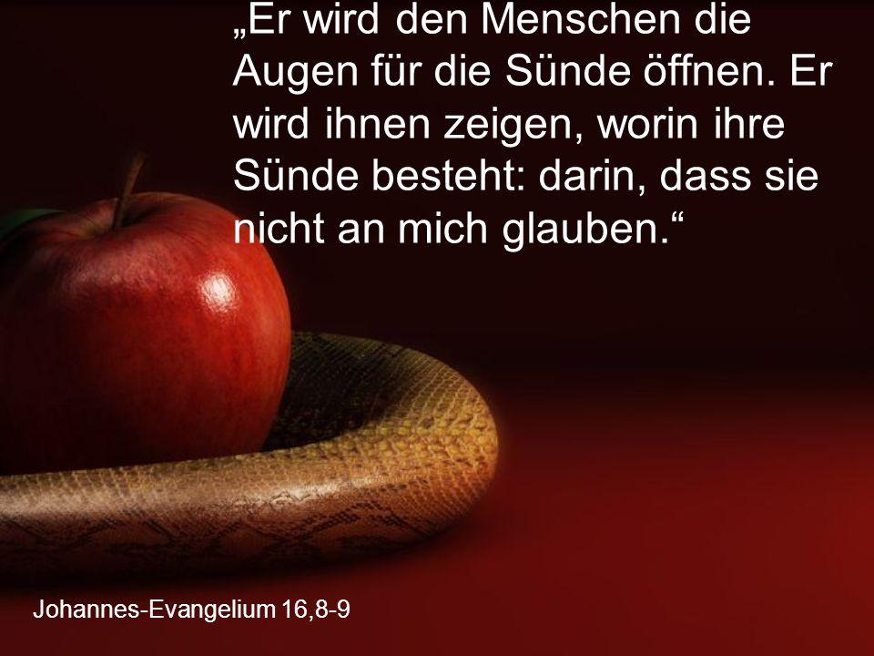 Johannes-Evangelium 16,8-9