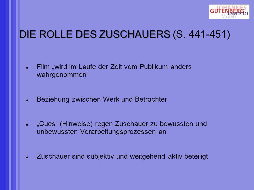 DIE ROLLE DES ZUSCHAUERS (S. 441-451)