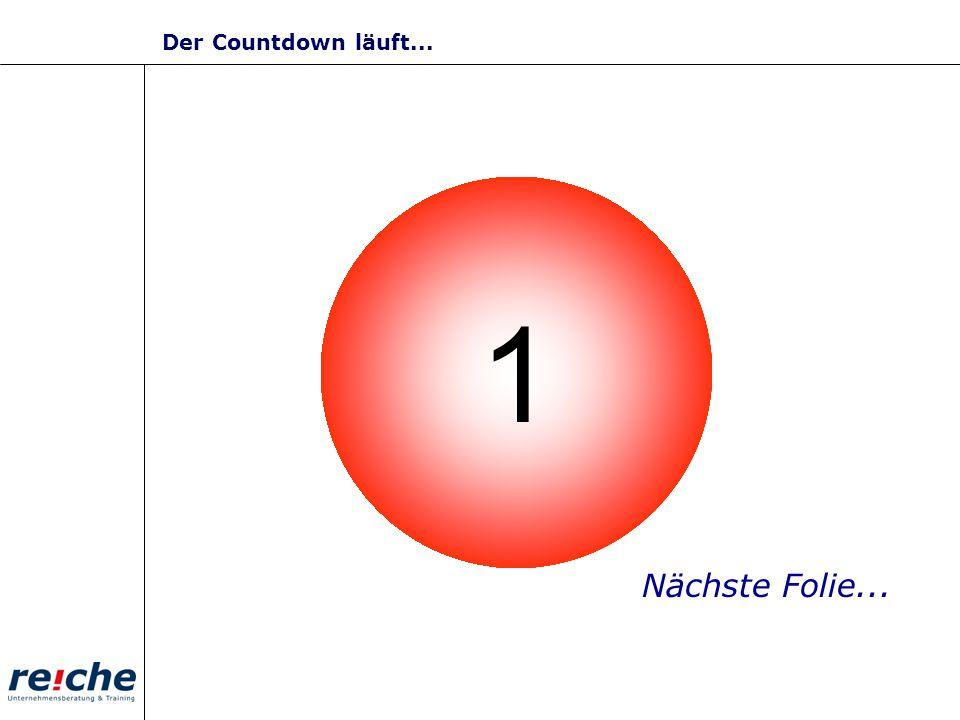 Der Countdown läuft... 3 2 1 4 5 9 8 7 10 6 Nächste Folie...