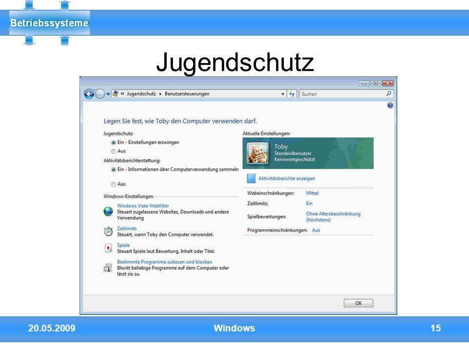 Jugendschutz 20.05.2009 Windows