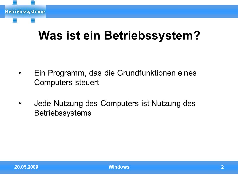 Betriebssysteme windows ppt video online herunterladen for Was ist ein innenarchitekt