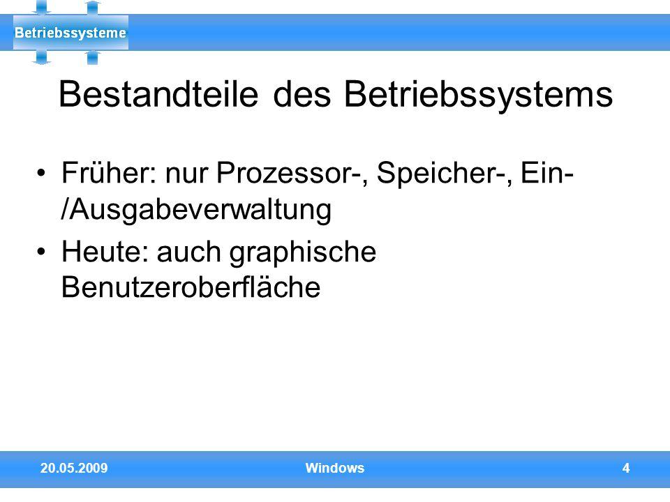 Bestandteile des Betriebssystems