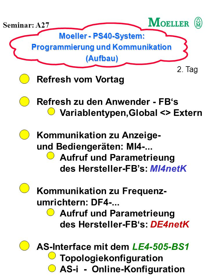 Refresh zu den Anwender - FB's Variablentypen,Global <> Extern