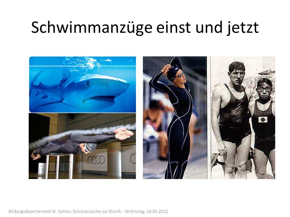 Schwimmanzüge einst und jetzt