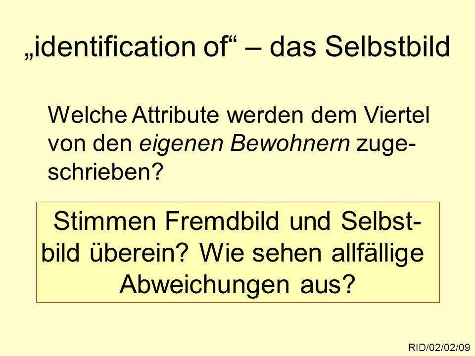 """identification of – das Selbstbild"