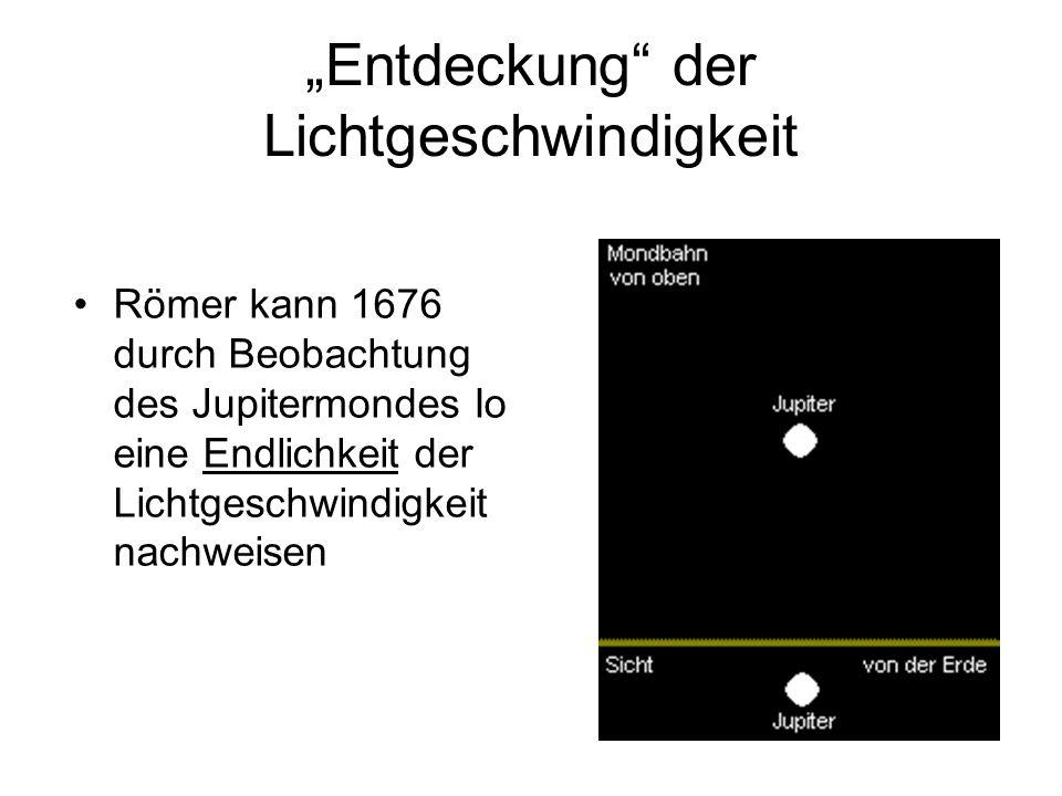 """""""Entdeckung der Lichtgeschwindigkeit"""