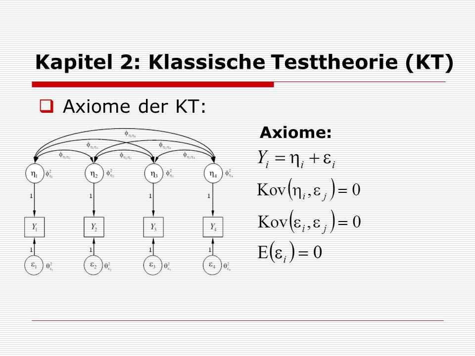 Kapitel 2: Klassische Testtheorie (KT)