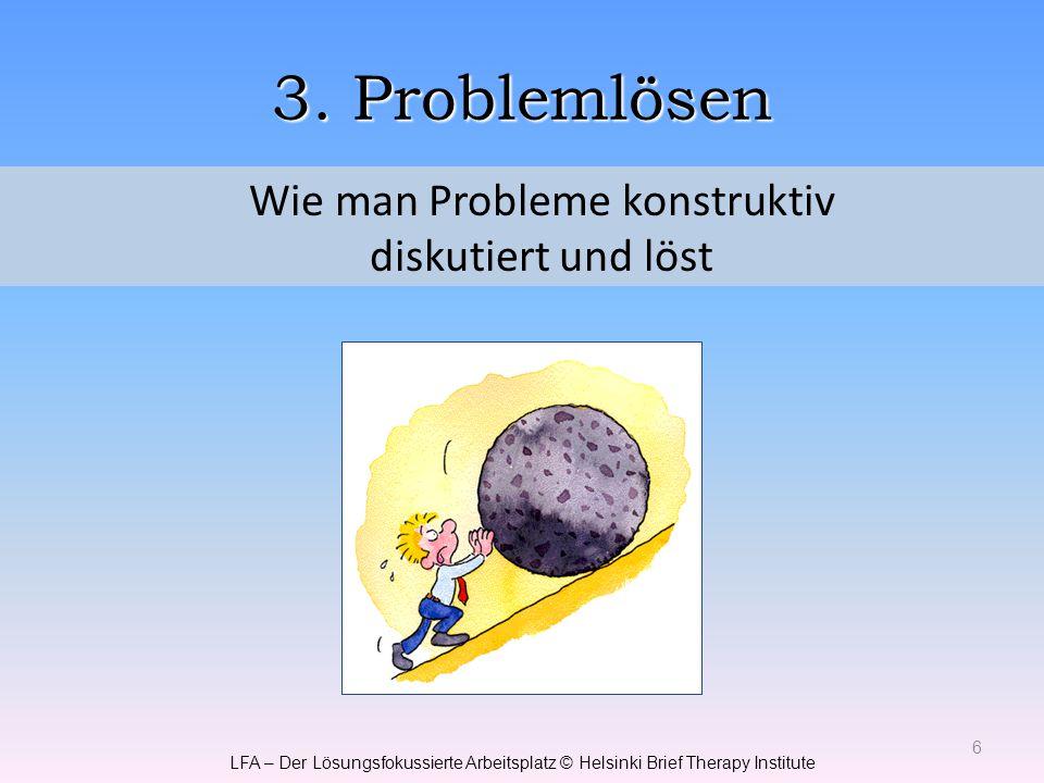 Wie man Probleme konstruktiv diskutiert und löst
