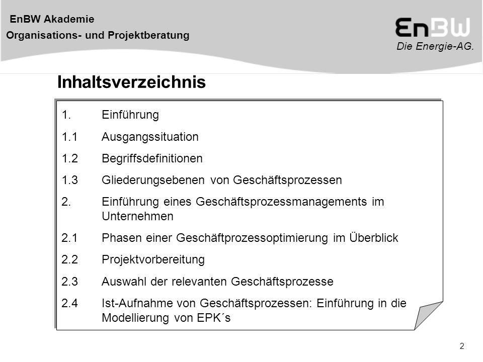 Inhaltsverzeichnis 1. Einführung 1.1 Ausgangssituation