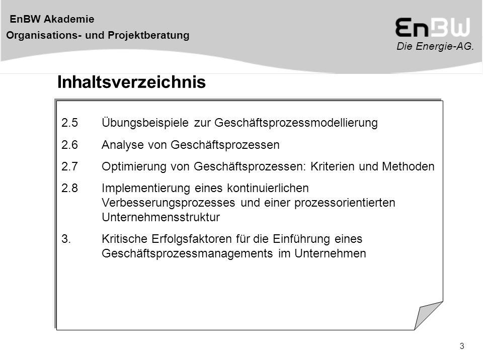 Inhaltsverzeichnis 2.5 Übungsbeispiele zur Geschäftsprozessmodellierung. 2.6 Analyse von Geschäftsprozessen.