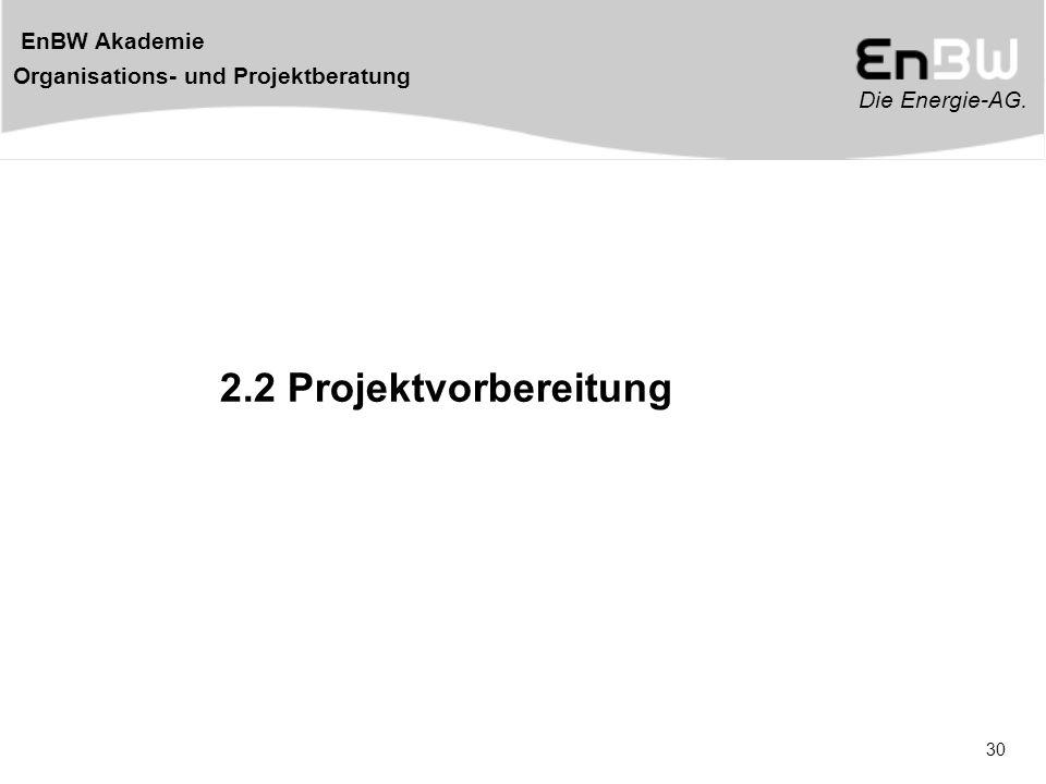 2.2 Projektvorbereitung