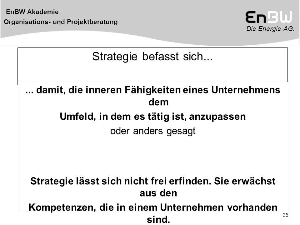 Strategie befasst sich...