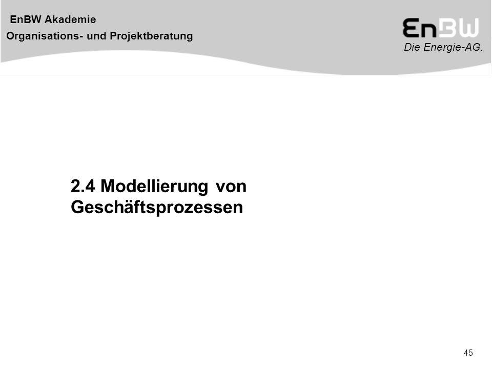 2.4 Modellierung von Geschäftsprozessen