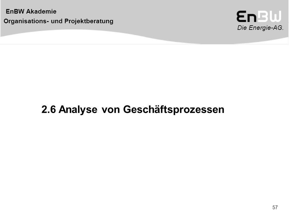 2.6 Analyse von Geschäftsprozessen