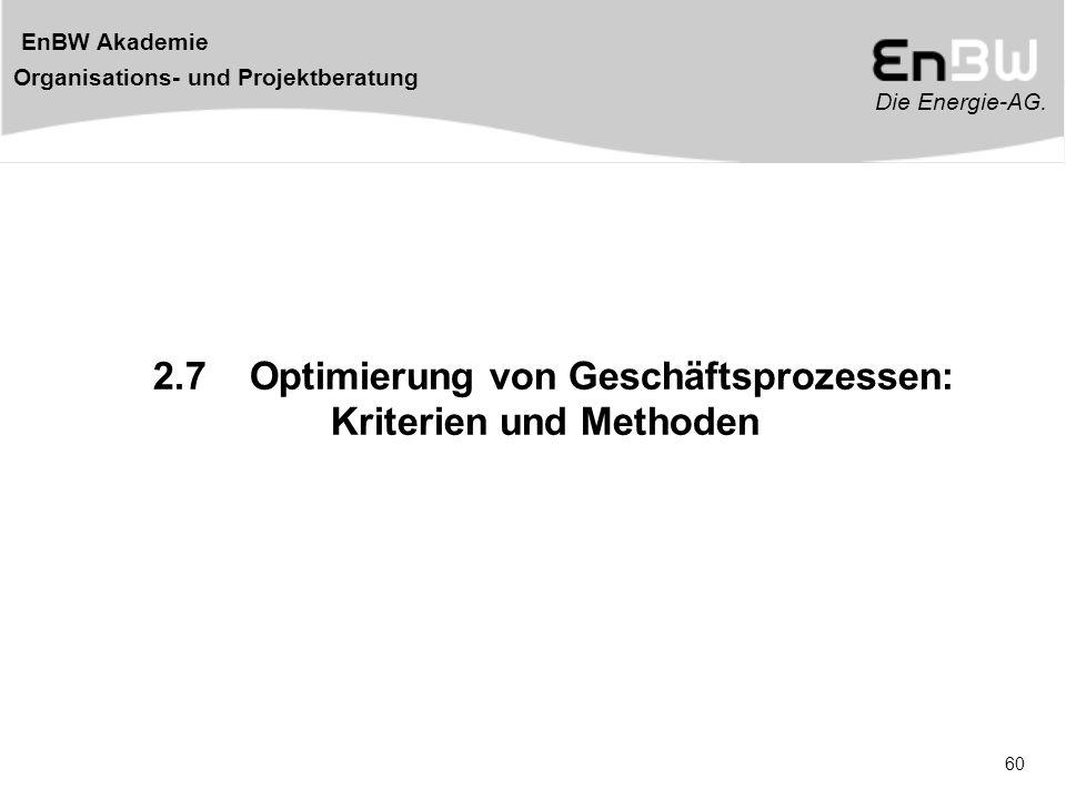2.7 Optimierung von Geschäftsprozessen: Kriterien und Methoden
