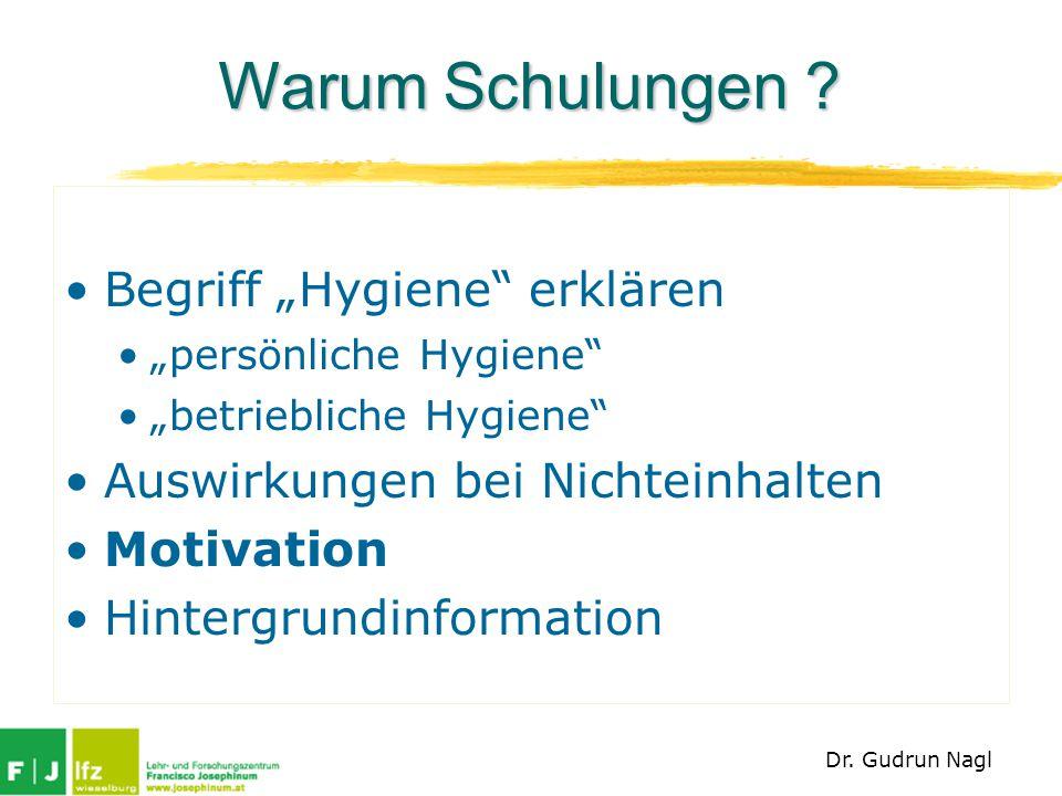 """Warum Schulungen Begriff """"Hygiene erklären"""