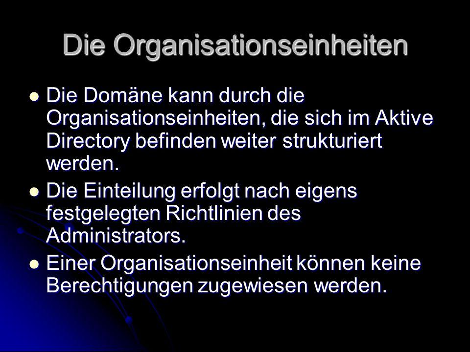 Die Organisationseinheiten