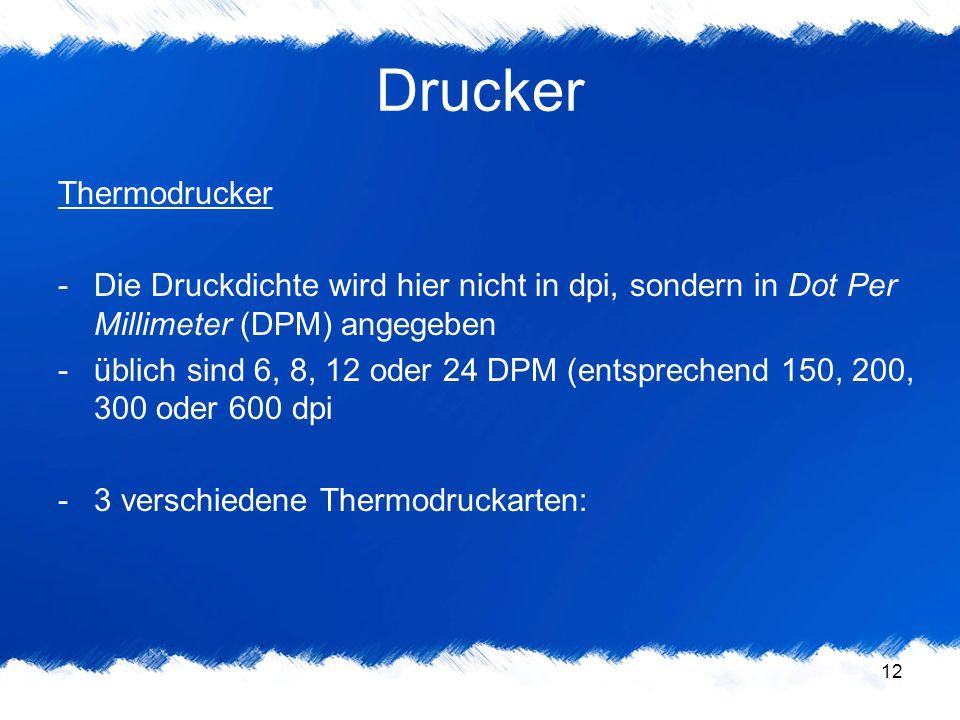 Drucker Thermodrucker