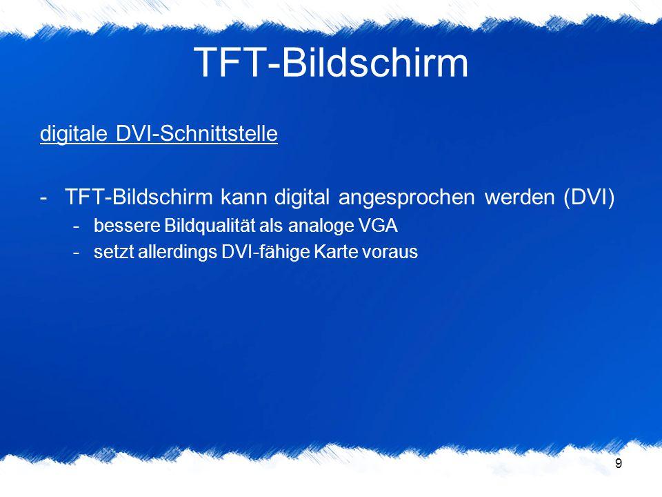 TFT-Bildschirm digitale DVI-Schnittstelle