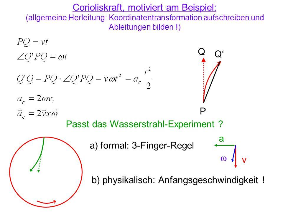 Corioliskraft, motiviert am Beispiel: