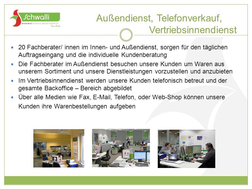 Außendienst, Telefonverkauf, Vertriebsinnendienst
