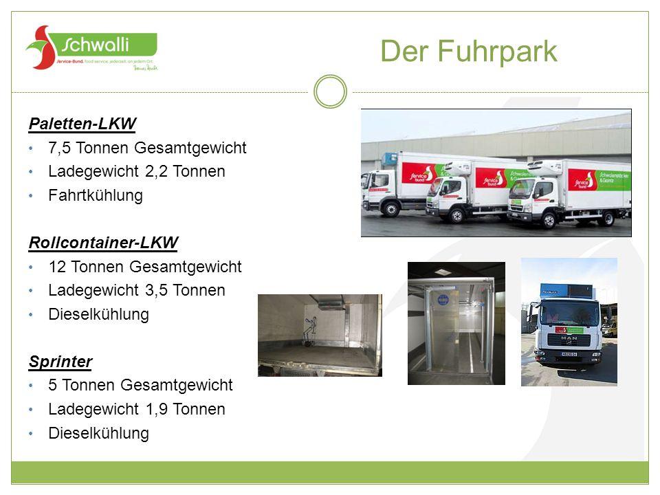 Der Fuhrpark Paletten-LKW 7,5 Tonnen Gesamtgewicht