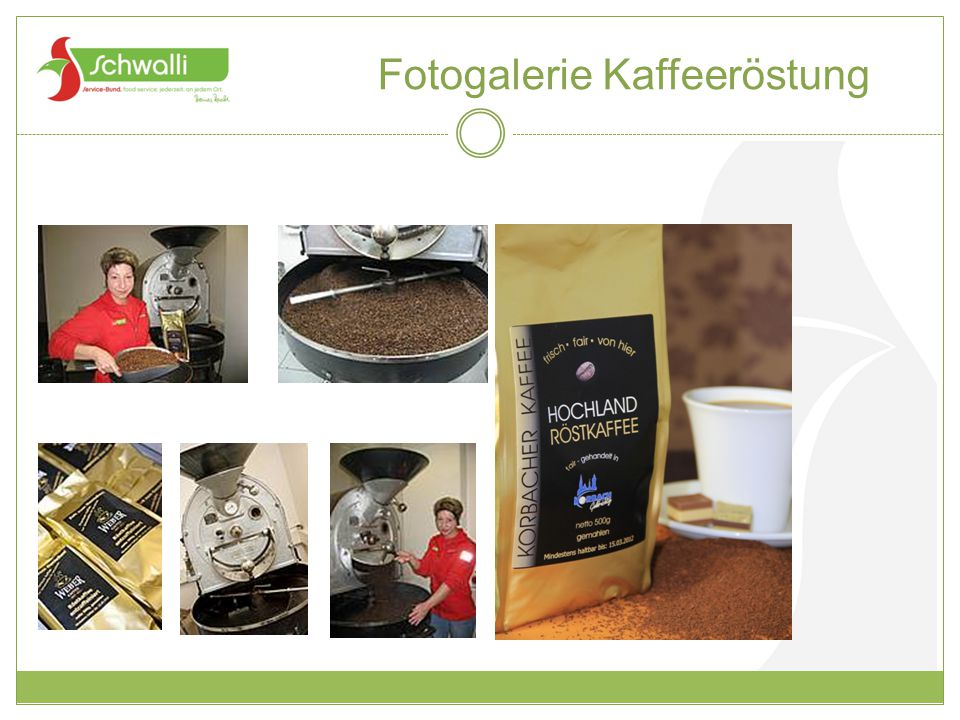 Fotogalerie Kaffeeröstung
