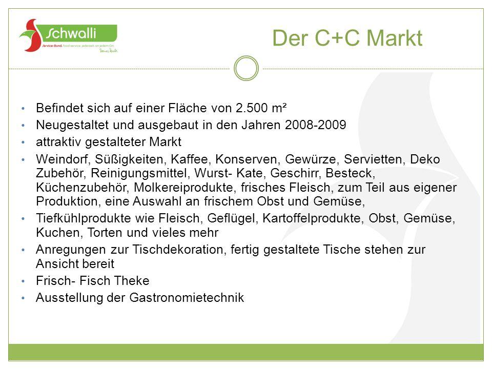 Der C+C Markt Befindet sich auf einer Fläche von 2.500 m²