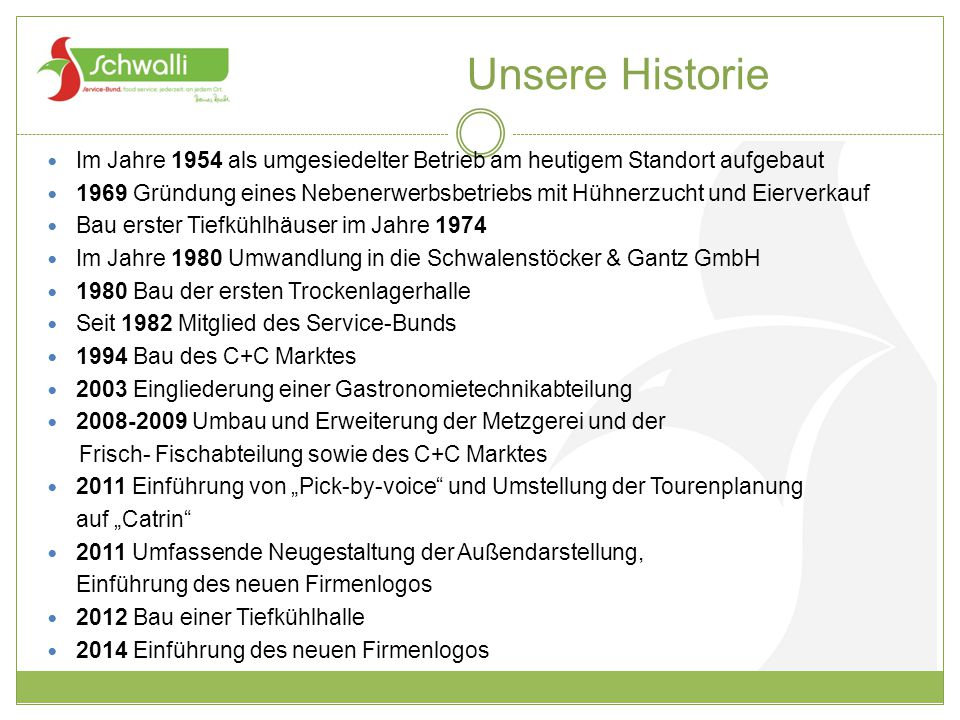 Unsere Historie Im Jahre 1954 als umgesiedelter Betrieb am heutigem Standort aufgebaut.