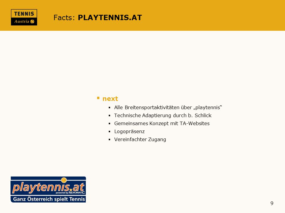 Facts: PLAYTENNIS.AT next