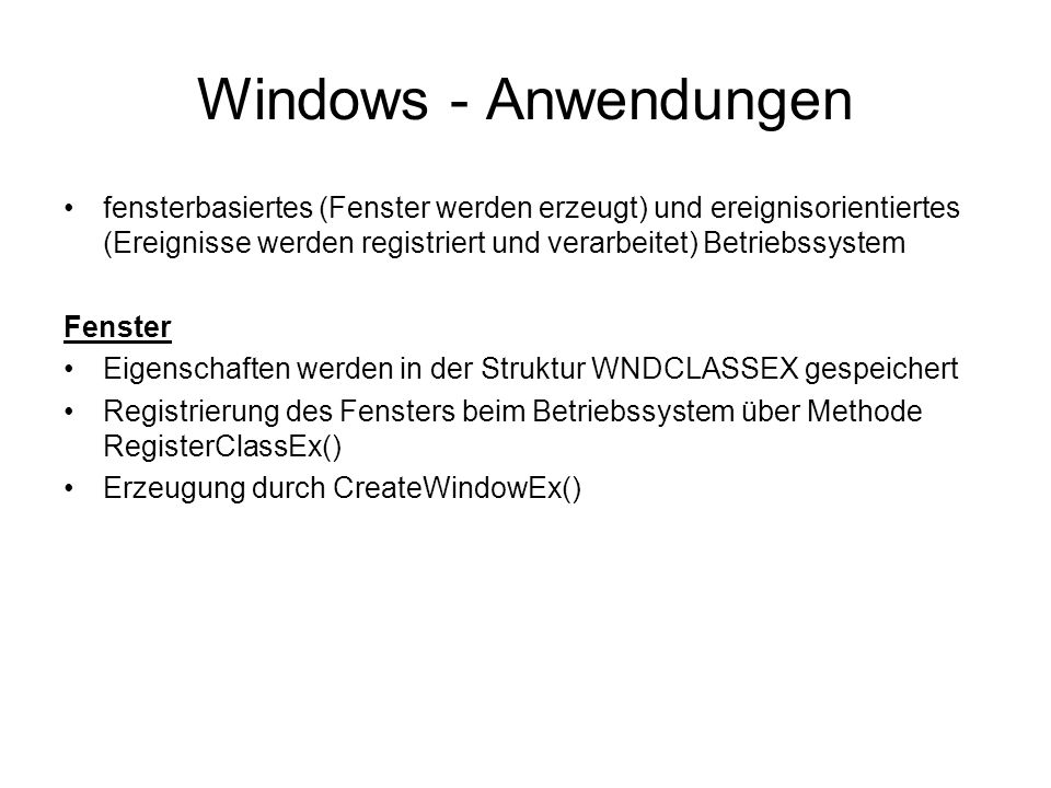 Windows - Anwendungen