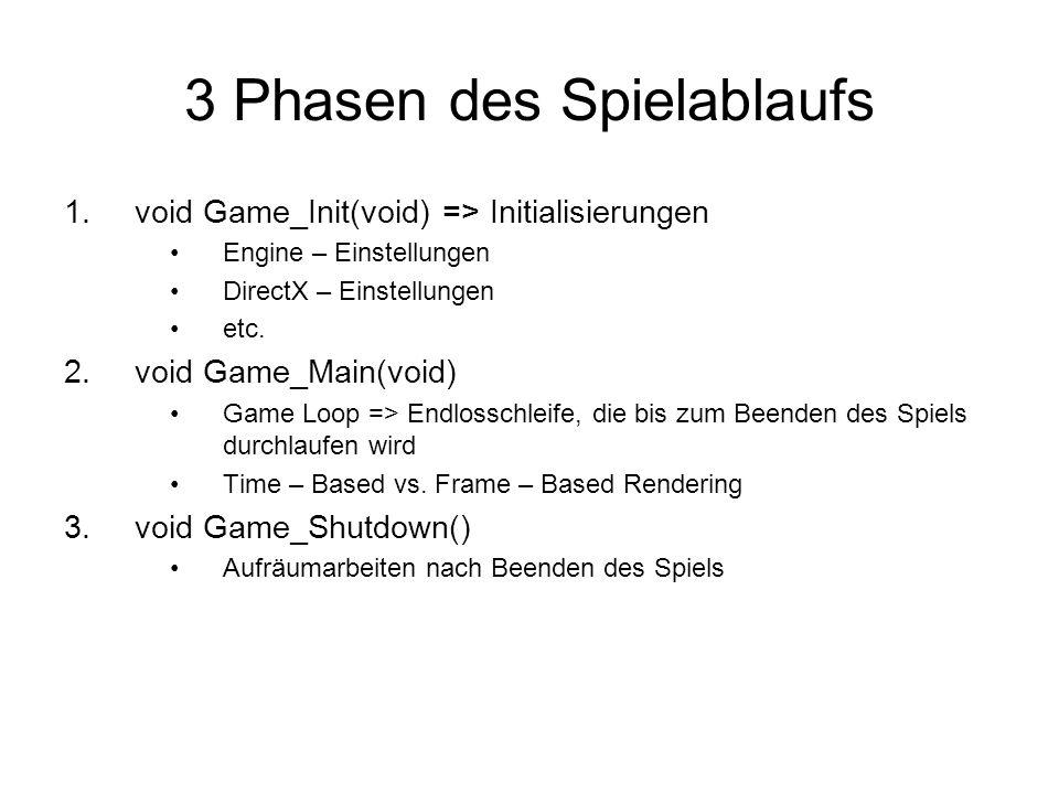 3 Phasen des Spielablaufs