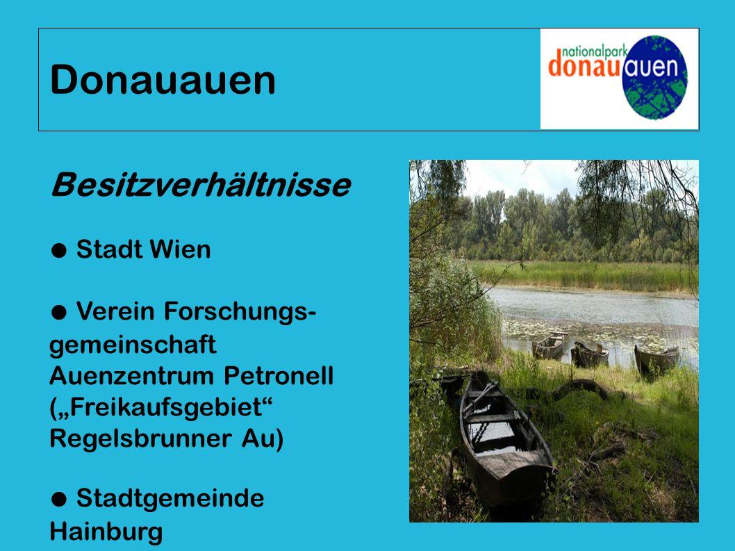 Donauauen Besitzverhältnisse ● Stadt Wien