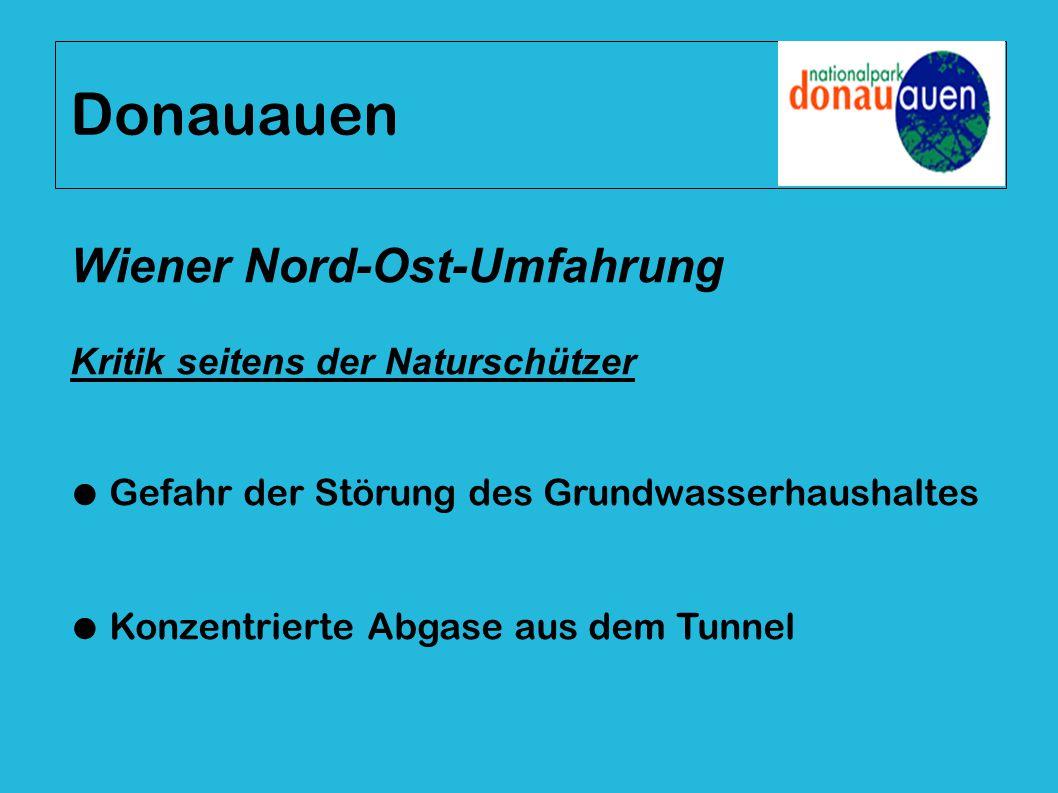 Donauauen Wiener Nord-Ost-Umfahrung Kritik seitens der Naturschützer