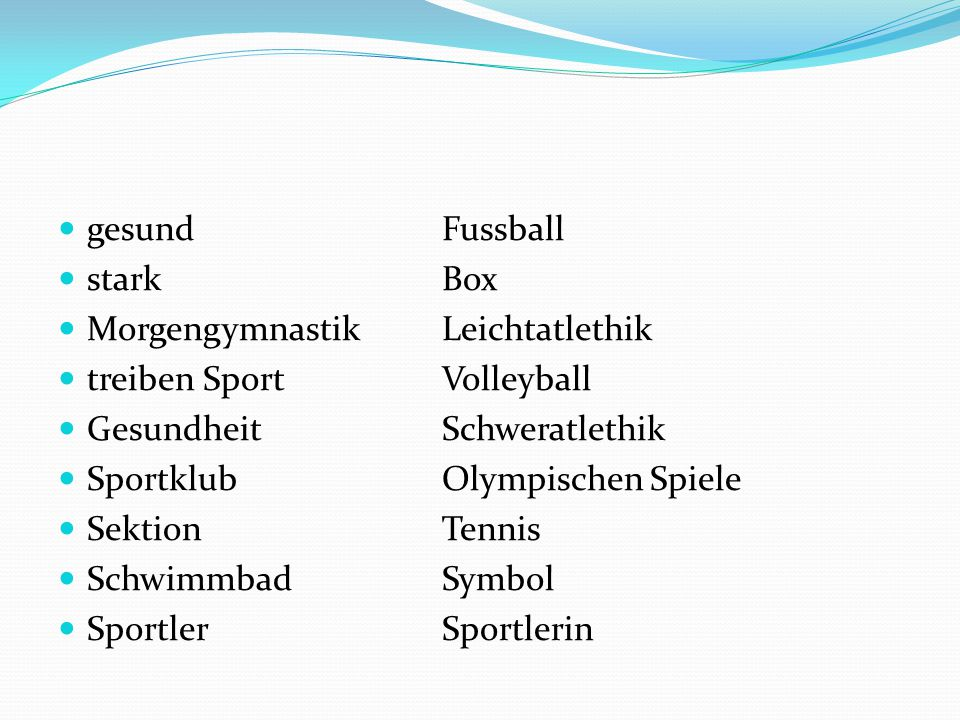 gesund Fussball stark Box. Morgengymnastik Leichtatlethik. treiben Sport Volleyball. Gesundheit Schweratlethik.