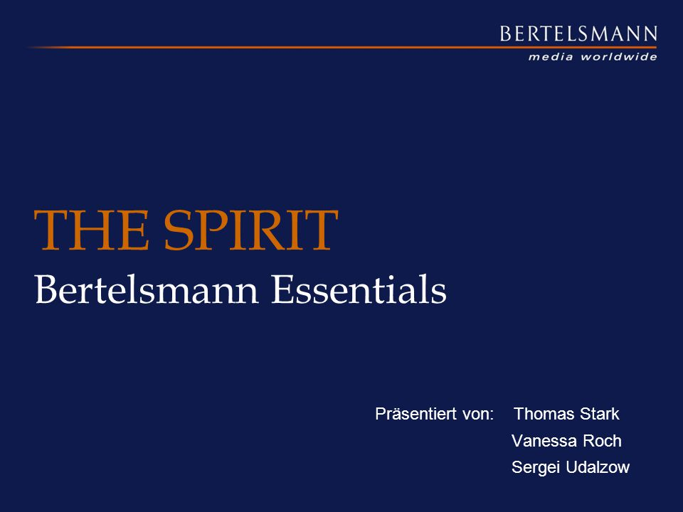 THE SPIRIT Bertelsmann Essentials