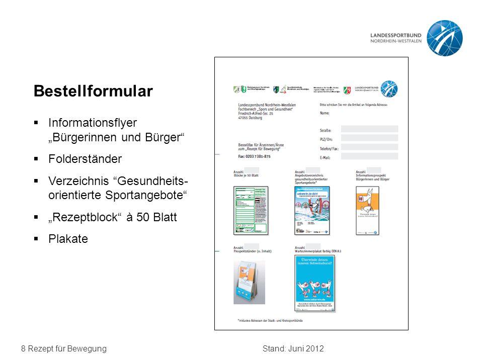 """Bestellformular Informationsflyer """"Bürgerinnen und Bürger"""