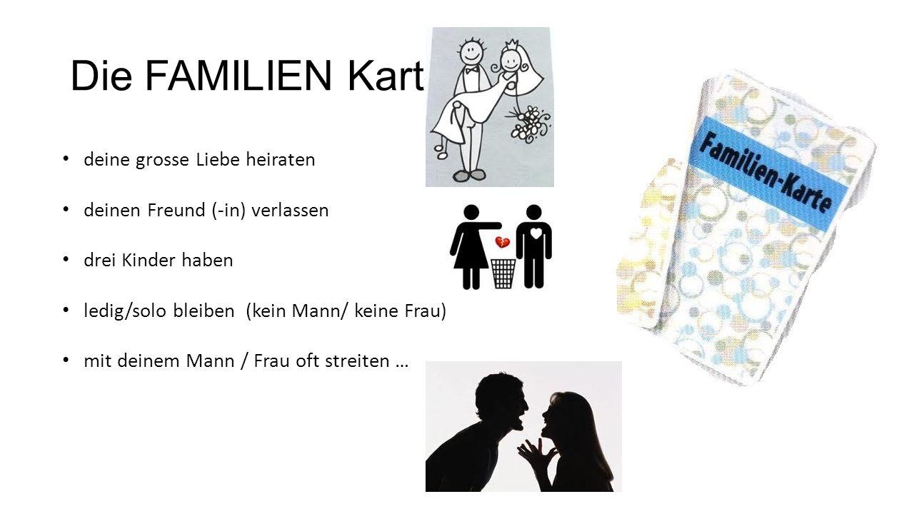 Die FAMILIEN Karte deine grosse Liebe heiraten
