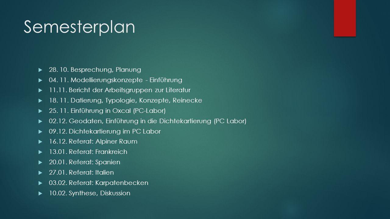 Semesterplan 28. 10. Besprechung, Planung