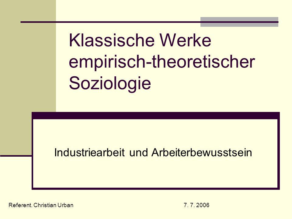 Klassische Werke empirisch-theoretischer Soziologie