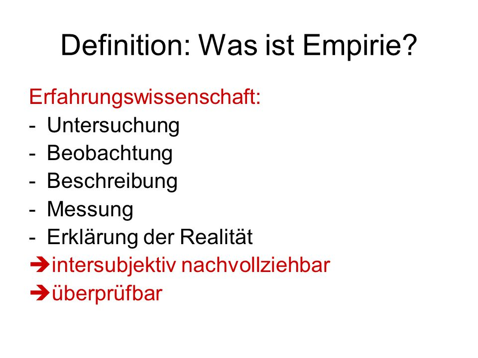 Definition: Was ist Empirie