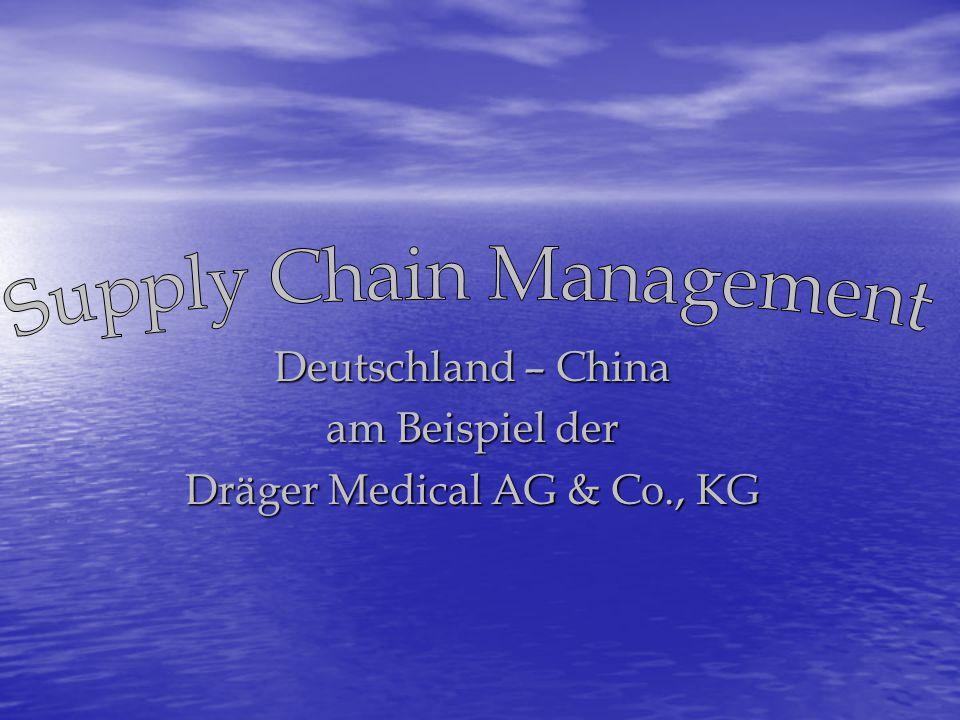 Deutschland – China am Beispiel der Dräger Medical AG & Co., KG