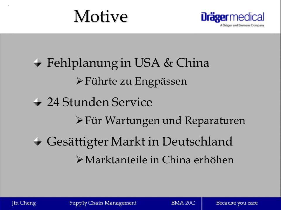 Motive Fehlplanung in USA & China 24 Stunden Service